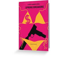 No218 My SPRING BREAKERS minimal movie poster Greeting Card