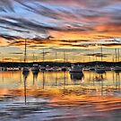 Vivid Sunset - Valentine NSW Australia by Bev Woodman
