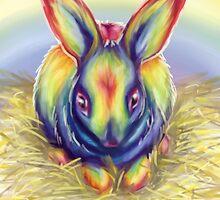 Rainbow Rabbit by Sylvia  Hollis