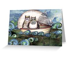 They danced by the light of the moon Greeting Card