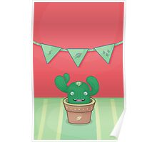 Un pequeño cactus Poster