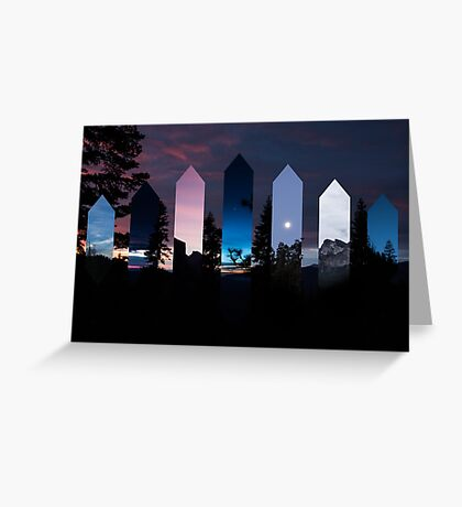 Scenic Crystals Greeting Card