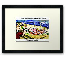 Sayings 'Things you can see in the Isle of Wight - Sealife' Framed Print