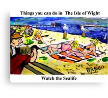 Sayings 'Things you can see in the Isle of Wight - Sealife' Canvas Print