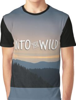 Into the Wild Blue Mountains Trees Forest Graphic T-Shirt