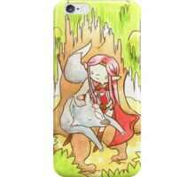A Girl and Her Wolf iPhone Case/Skin