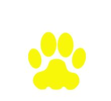 Yellow Big Cat Paw Print by kwg2200