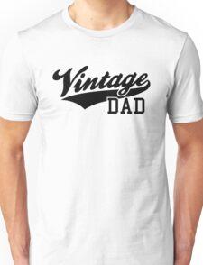 Vintage DAD Design Black Unisex T-Shirt