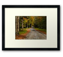 Summitville Mountain Road Autumn Framed Print