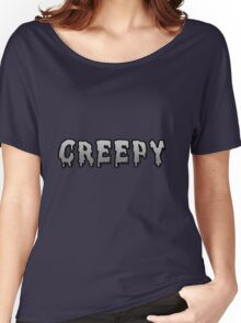 Grayscale Creepy Shirt Women's Relaxed Fit T-Shirt