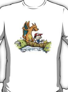 calvin & charizard.. T-Shirt
