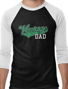 Vintage DAD 2C Design Green/White Men's Baseball ¾ T-Shirt