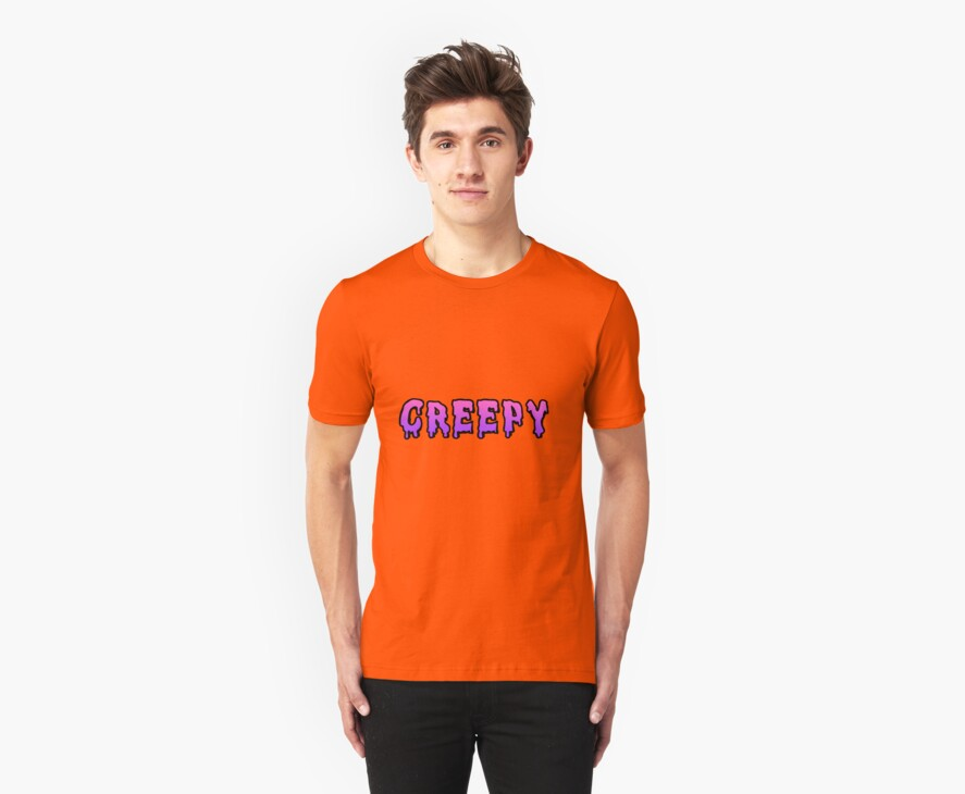 Pink&Purple Ombre Creepy Shirt by Merwok