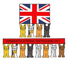 Cats passing out Congratulations. by KateTaylor