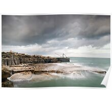 Storms at Portland Bill Poster