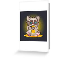 Maneki 'Grumpy' Neko Greeting Card