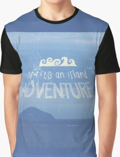 Off To An Island Adventure Blue Coast Dawn Graphic T-Shirt