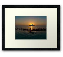 Sun setting over Israel Framed Print