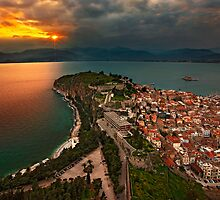 Sunset at Nafplio by Hercules Milas