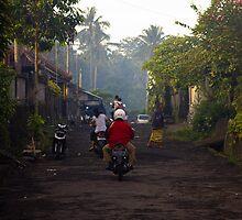 A Village Road by Putu Agung Wija Putera