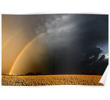 Storm Over Canolla Field  Poster
