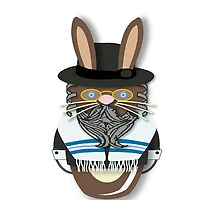 Rabbi Rabbit Workobeez.com iPhone Cover! by Lisa Rotenberg
