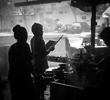 Satay Stall by Putu Agung Wija Putera