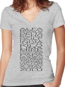 Alfa, Bravo, Charlie Women's Fitted V-Neck T-Shirt