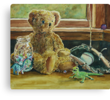 Teddy and Friends Canvas Print