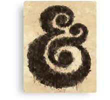 Ink Ampersand Canvas Print