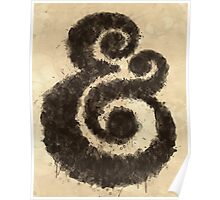 Ink Ampersand Poster