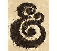 Ink Ampersand Photographic Print