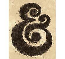 Ink Ampersand Photographic Print