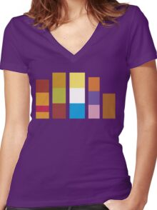 Minimalistic Scooby Doo Gang Women's Fitted V-Neck T-Shirt