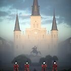 St. Louis Cathedral at Christmas by Alfonso Bresciani