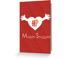 Muggle Snuggle Harry Potter Card Greeting Card