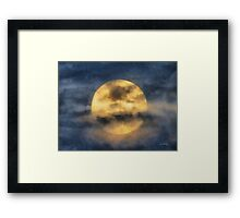 Veiled Harvest Moon Framed Print