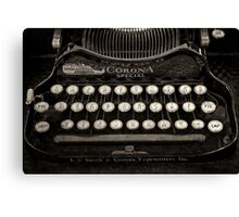 Vintage Typewriter Keyboard Canvas Print