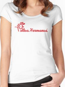 Los Pollos Hermanos & Chick-Fil-A Mashup Women's Fitted Scoop T-Shirt