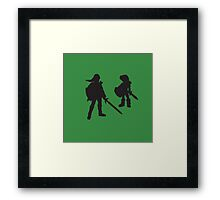 The Legend of Zelda - The Young and the Old - Link Framed Print