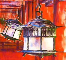Japanese Lanterns by Szilvia Ponyiczki