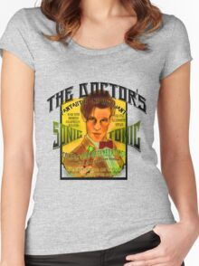 The Doctor's Sonic Tonic! Women's Fitted Scoop T-Shirt