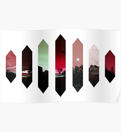 Red Nature Crystals Poster