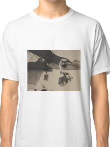 Vintage Black and White Military Bulldog Aviation Classic T-Shirt