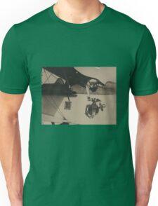 Vintage Black and White Military Bulldog Aviation Unisex T-Shirt