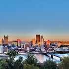 Panorama of Downtown Pittsburg by Steve Ivanov