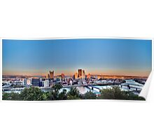 Panorama of Downtown Pittsburg Poster