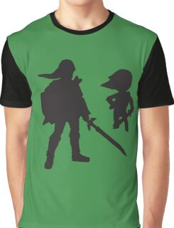 The Legend of Zelda - The Old and the Toon - Link Graphic T-Shirt