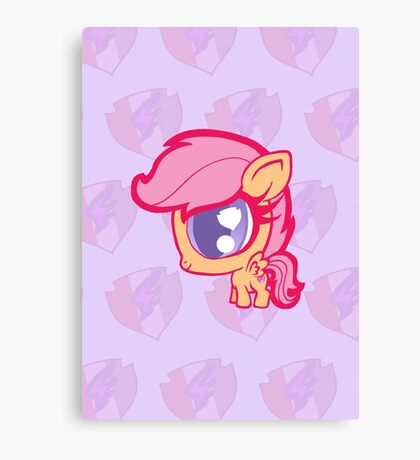 Weeny My Little Pony- Scootaloo Canvas Print