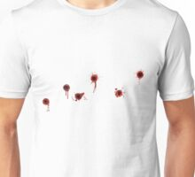 T Shirt with row of Bullet Holes Unisex T-Shirt